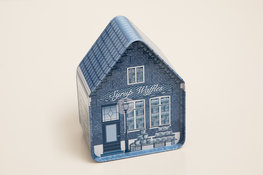 Delftsblauw blik huisje