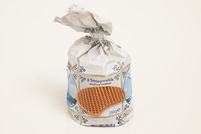 Delftsblauw zakje stroowpafels