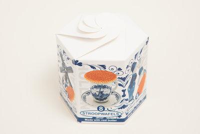 Delftsblauw doosje stroopwafels
